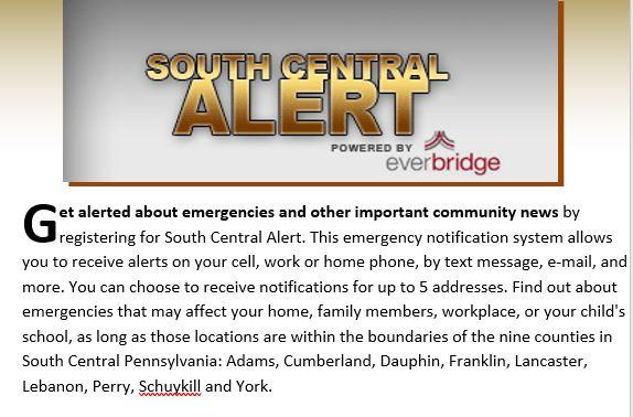 South Central Alert