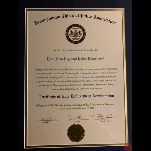 2020 Accreditation Certificate