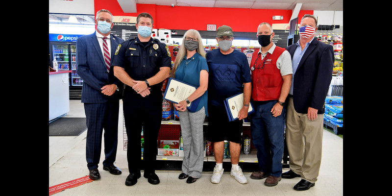 Image for Citizens awarded for saving a life at Ace Hardware